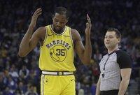 K.Durantas ir toliau negali padėti savo komandai (Scanpix nuotr.)