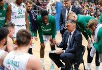 Š.Jasikevičius nebuvo patenkintas žaidėjų energija pirmoje rungtynių pusėje (BNS nuotr.)