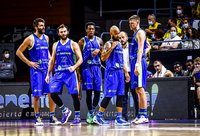 E.Bendžiaus ekipa šventė pergalę (FIBA Europe nuotr.)