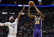 "NBA: ""Grizzlies"" – ""Lakers"""