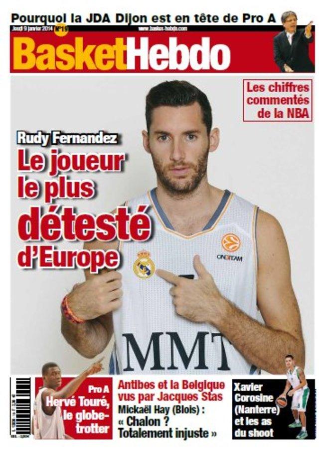 """R.Fernandezas """"Basket Hebdo"""" žurnalo viršelyje"""