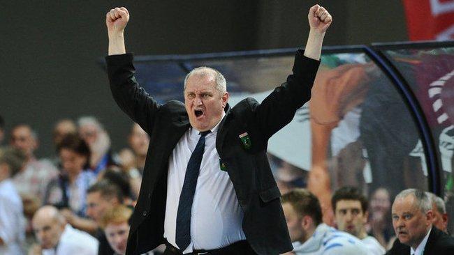 V.Šeškus neslepia džiaugsmo dėl savo auklėtinių užimamos pozicijos LKL čempionate (Robertas Dačkus, Fotodiena.lt)