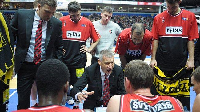 """A.Petrovičius rungtynėse su """"Crvena Zvezda"""" nenorėjo atskleisti visų savo kortų (Fotodiena.lt)"""