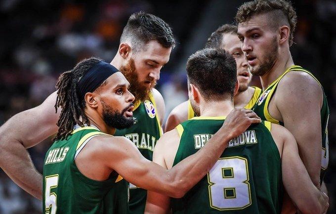Australija dėl pirmos vietos grupėje kovos su lietuviais (FIBA nuotr.)