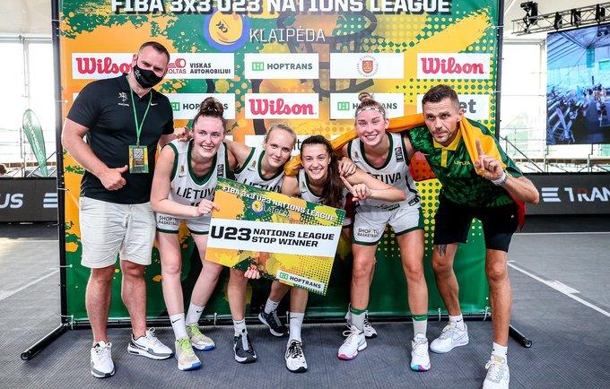 Merginos triumfavo ir antrajame etape (3x3 krepšinio asociacijos nuotr.)