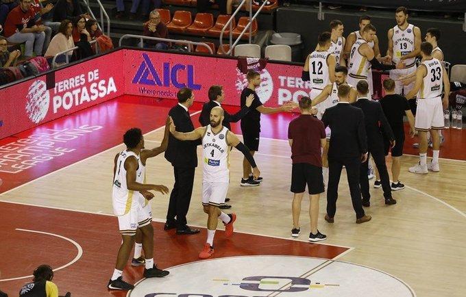 """""""Lietkabelis"""" rūbinę paliko idealiai sutvarkytą  (FIBA nuotr.)"""