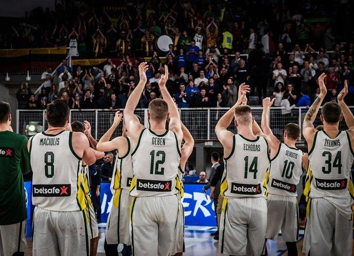 Lietuvos rinktinė varžovus sužinos kovą (FIBA Europe nuotr.)