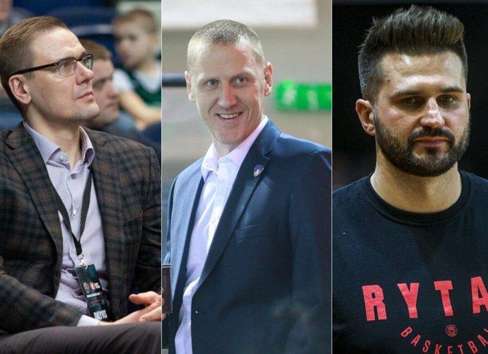 2017 m. trys buvę krepšininkai ėmėsi naujų pareigų krepšinyje (BNS nuotr.)