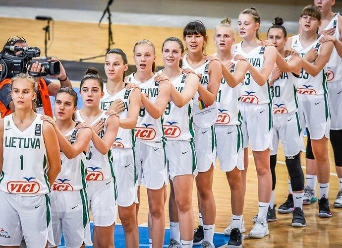 Lietuvės garbingai pralaimėjo finalą (FIBA Europe nuotr.)
