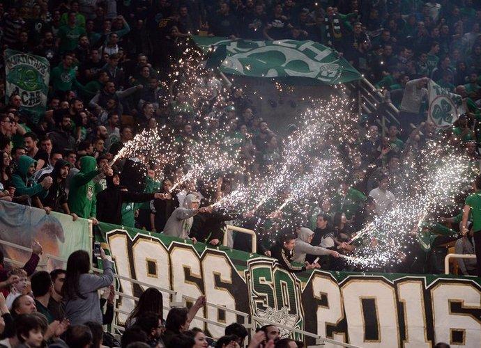 """""""Panathinaikos"""" sirgaliai klubui užtraukė piniginę baudą (Scanpix nuotr.)"""