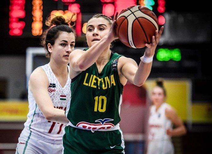Rezultatyviausia lietuvė K.Serkevičiūtė surinko vienintelį naudingumo balą (FIBA Europe nuotr.)