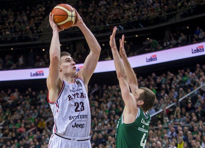 M.Blaževičius pakartojo savo rezultatyvumo rekordą (BNS nuotr.)