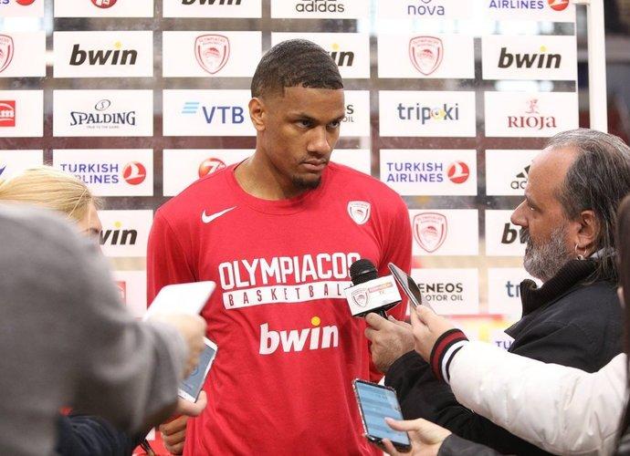 """A.Toupane'as laukia mačo su žalgiriečiais (""""Olympiacos"""" nuotr.)"""