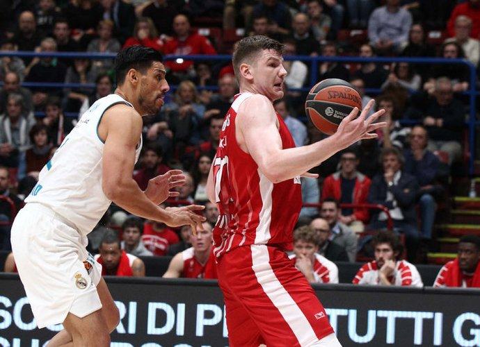 A.Gudaitis blokavo varžovo metimą ir taip užėmė septintąją vietą (Scanpix nuotr.)