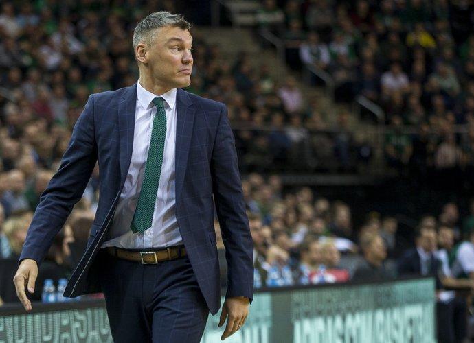 Š.Jasikevičius nusivylė savo auklėtinių žaidimu per pirmus du kėlinius (BNS nuotr.)