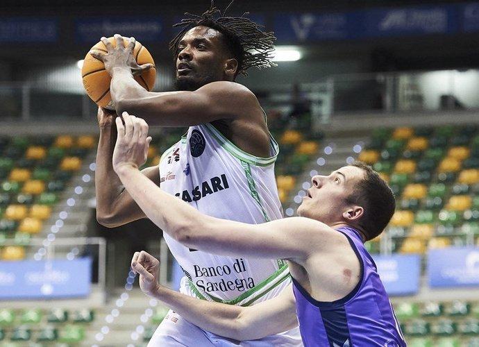 D.Pierre'as nuo 2017 metų rungtyniauja Sasario klube (FIBA Europe nuotr.)