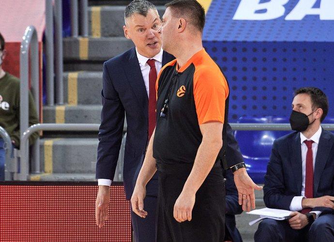 Š.Jasikevičius liko nepatenkintas komandos nusiteikimu (Scanpix nuotr.)