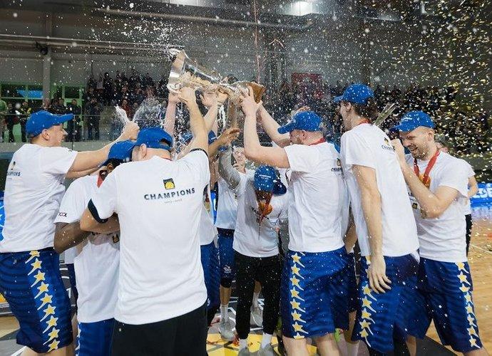 """""""Pieno žvaigždžių"""" ekipa tapo paskutine BBL čempione (Foto: Vytautas Mikaitis)"""