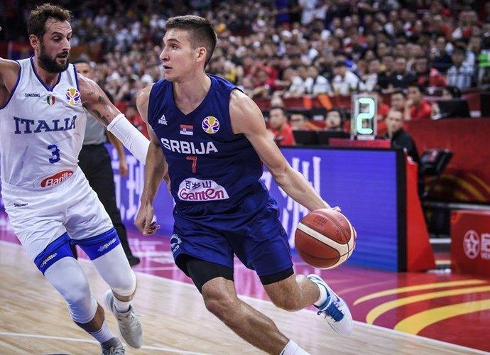 B.Bogdanovičius ir kompanija nesigaili varžovų (FIBA nuotr.)