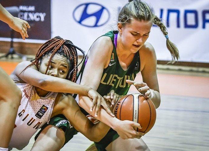 S.Visockaitės dvigubo dublio pergalei neužteko (FIBA Europe nuotr.)