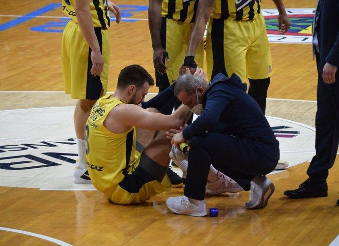 M.Guduričius patyrė traumą