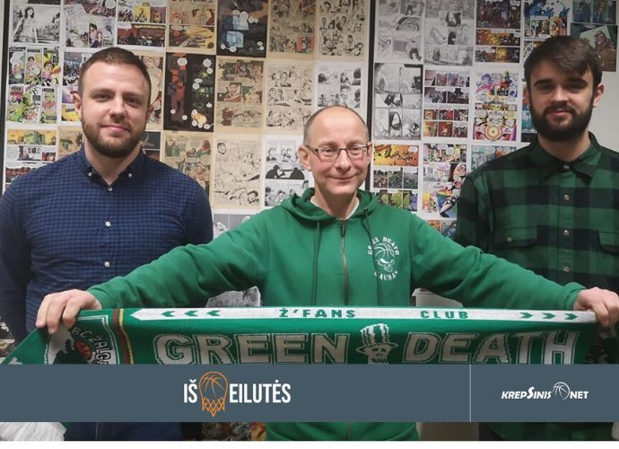 """Klubo """"Žalioji mirtis"""" įkūrėjas R.Petrauskas pasidalino istorijomis apie """"Žalgirį"""""""