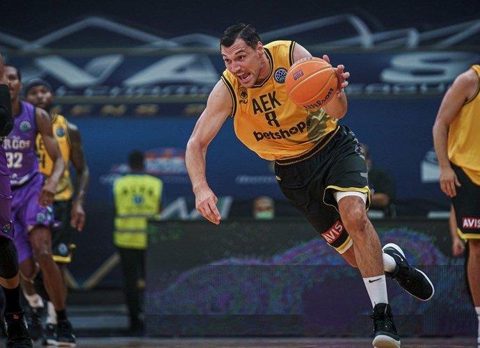 J.Mačiulis pradėjo pasirodymą Graikijos čempionate (FIBA nuotr.)