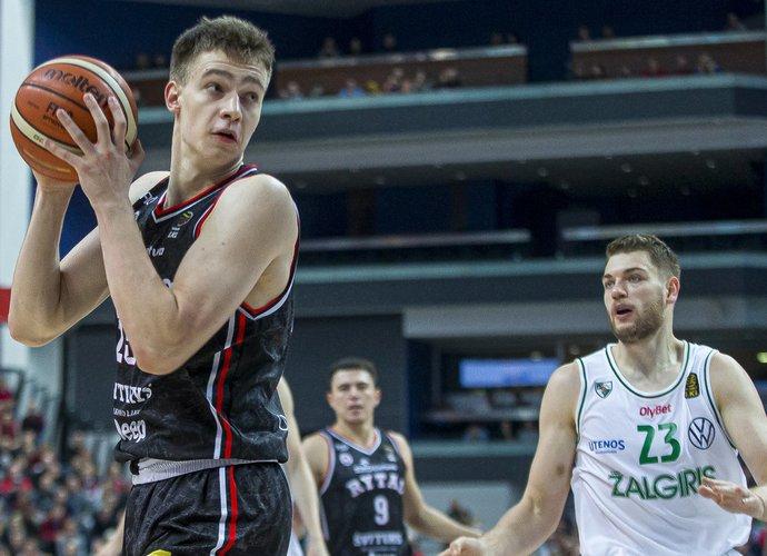 """M.Blaževičius vienas iš rezultatyviausių sezono rungtynių sužaidė prieš """"Žalgirį"""" (BNS nuotr.)"""