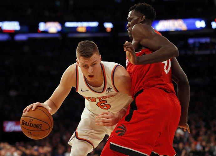 K.Porzingis sužavėjo NBA legendą (Scanpix nuotr.)